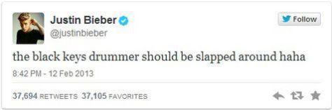 bieber's-tweet